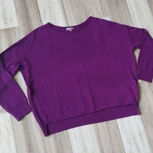 Vince Camuto Lightweight Eyelet Knit Sweater